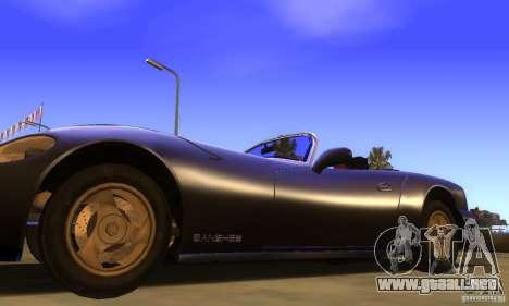 New Banshee [HD] para GTA San Andreas vista posterior izquierda