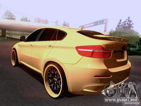 BMW X6M Hamann para GTA San Andreas interior