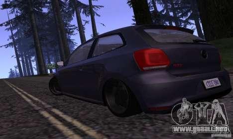 Volkswagen Polo GTI Stanced para GTA San Andreas vista posterior izquierda