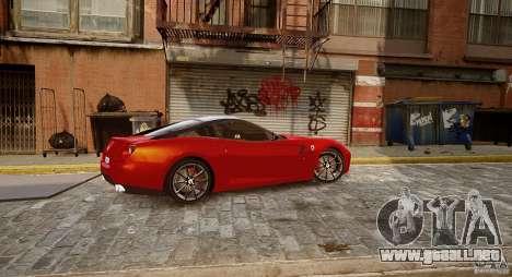 Ferrari 599 GTB para GTA 4 Vista posterior izquierda