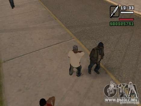 Dar a las personas sin hogar una pequeña trivia para GTA San Andreas segunda pantalla