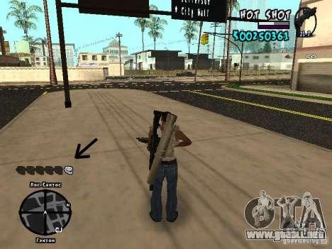 HUD by Hot Shot para GTA San Andreas tercera pantalla