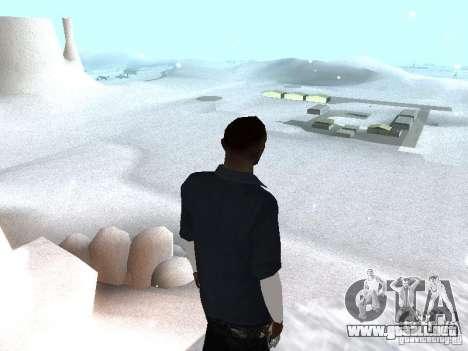 Snow MOD 2012-2013 para GTA San Andreas segunda pantalla