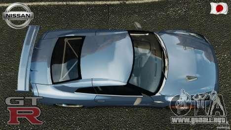 Nissan GT-R 35 rEACT v1.0 para GTA 4 visión correcta