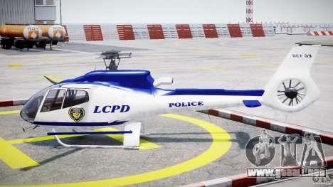 Eurocopter EC 130 LCPD para GTA 4 left