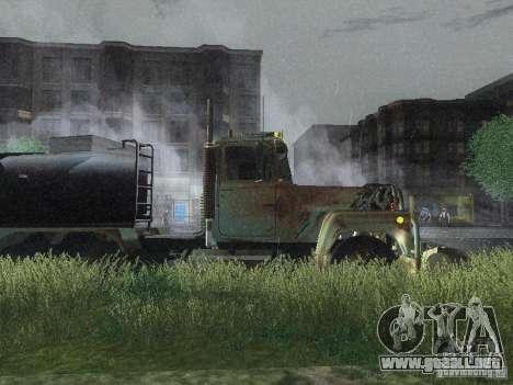 Armored Mack Titan Fuel Truck para GTA San Andreas vista posterior izquierda