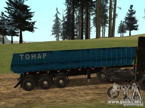 Semi-remolque Tonar 95234 para GTA San Andreas left