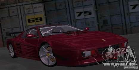 Ferrari 512 TR para GTA San Andreas vista hacia atrás