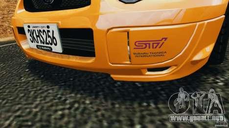 Subaru Impreza WRX STI 2005 para GTA motor 4