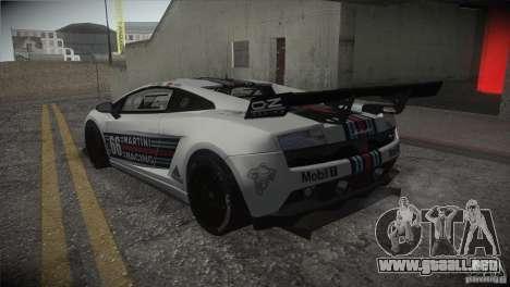 Lamborghini Gallardo LP560-4 GT3 para GTA San Andreas interior