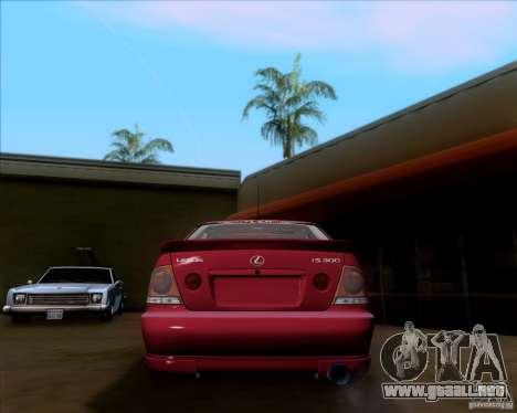 Lexus IS300 Hella Flush para la visión correcta GTA San Andreas