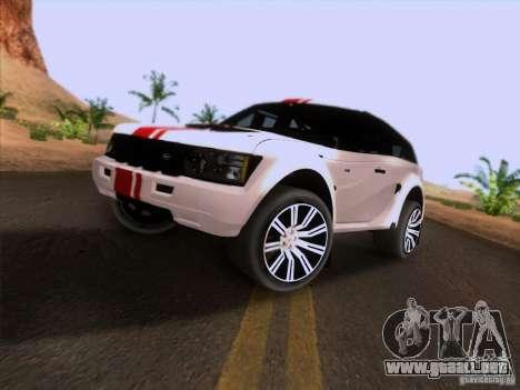 Bowler EXR S 2012 para GTA San Andreas vista posterior izquierda