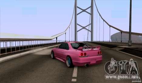 Nissan Skyline GTR 33 Fatlace para GTA San Andreas vista posterior izquierda