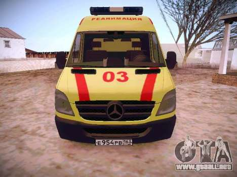 Mercedes Benz Sprinter Ambulance para GTA San Andreas left