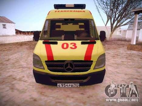 Mercedes Benz Sprinter Ambulance para GTA San Andreas left