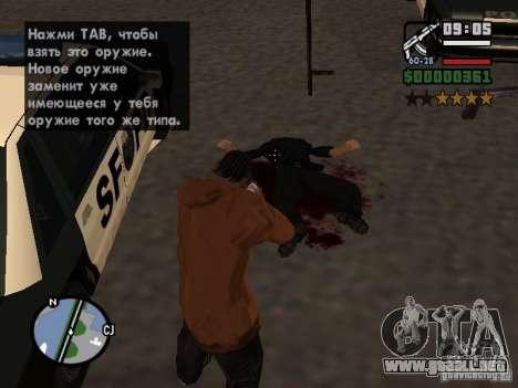 Nuevo patrón de sangre para GTA San Andreas sucesivamente de pantalla