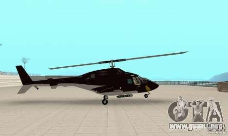 Airwolf para GTA San Andreas vista posterior izquierda