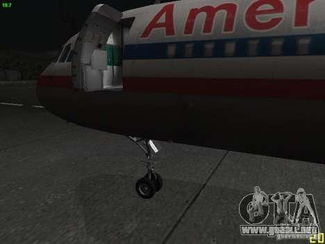 Airbus A320 para la visión correcta GTA San Andreas