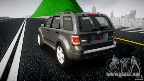 Ford Escape 2011 Hybrid Civilian Version v1.0 para GTA 4 Vista posterior izquierda