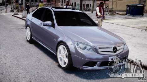 Mercedes-Benz C180 CGi Classic Special 2009 para GTA 4 vista hacia atrás