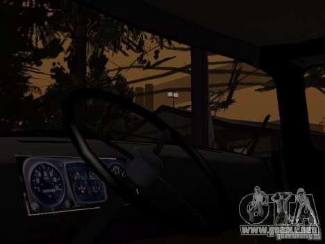 ZIL 130 policía para GTA San Andreas vista posterior izquierda