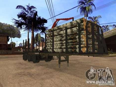 Remolque MAZ 99864 para GTA San Andreas