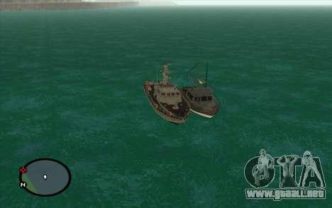 Barco militar de CODMW3 para GTA San Andreas vista posterior izquierda