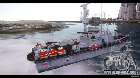 Russian PT Boat para GTA 4 left