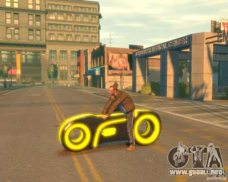 Motocicleta del trono (amarillo neón) para GTA 4 left