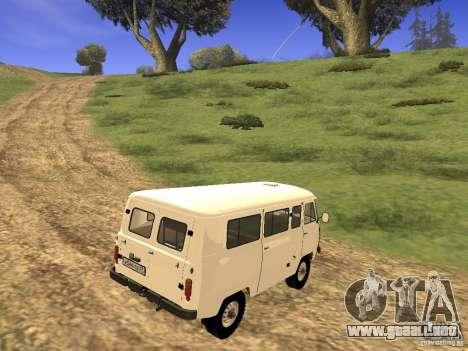 2206 UAZ para GTA San Andreas vista posterior izquierda