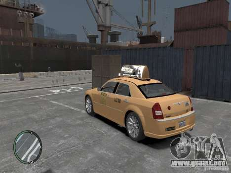 Chrysler 300c Taxi v.2.0 para GTA 4 left