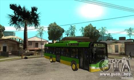 Solaris Urbino 11 para GTA San Andreas vista hacia atrás