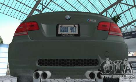 BMW M3 E92 Stock para visión interna GTA San Andreas
