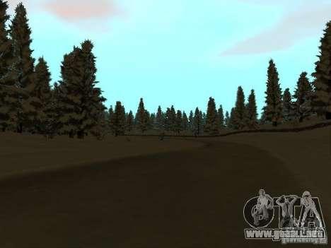 Camino de invierno para GTA San Andreas tercera pantalla