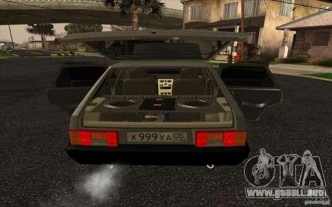 VAZ-2109 para la visión correcta GTA San Andreas