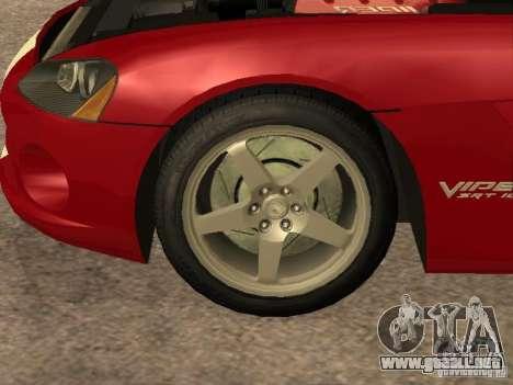 Dodge Viper para visión interna GTA San Andreas