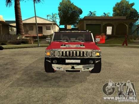 Hummer H2 Diablo para GTA San Andreas left