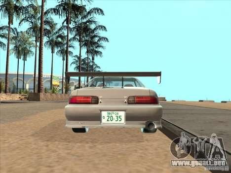 Toyota Soarer (JZZ30) para GTA San Andreas vista posterior izquierda