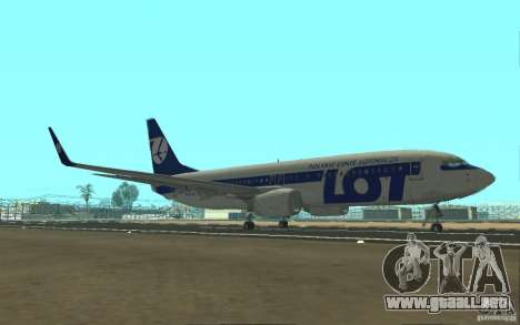 Boeing 737 LOT Polish Airlines para GTA San Andreas left