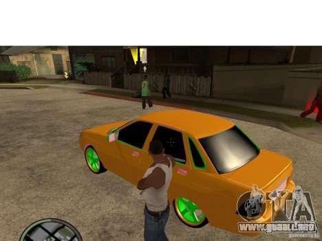 VAZ-2174 Priora Crazy Taxi para GTA San Andreas left