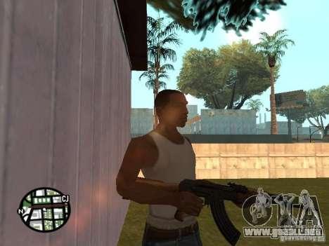 Nuevo AK-47 para GTA San Andreas segunda pantalla