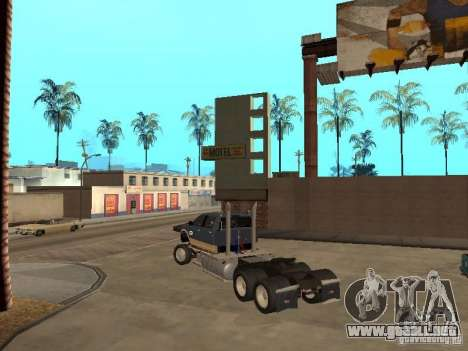 Dodge Ram para GTA San Andreas vista hacia atrás