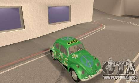 Volkswagen Beetle 1963 para vista inferior GTA San Andreas