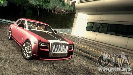 Rolls-Royce Ghost 2010 V1.0 para GTA San Andreas vista hacia atrás