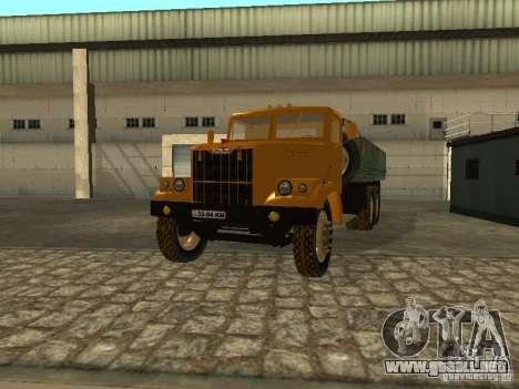 Remolque de camión KrAZ v. 2 para vista lateral GTA San Andreas