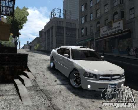 Dodge Charger RT 2006 para GTA 4 Vista posterior izquierda