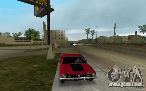 Ford Maverick GT 1975 para GTA Vice City vista lateral izquierdo
