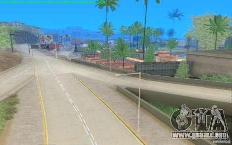 Caminos concretos de Los Santos Beta para GTA San Andreas sucesivamente de pantalla