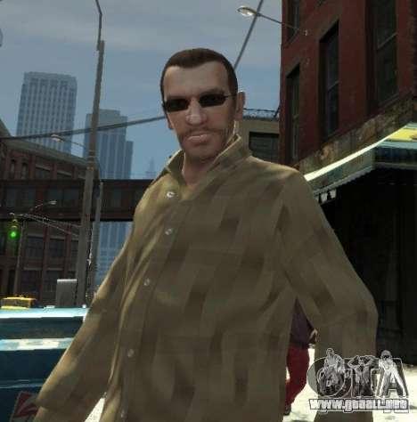 Nuevas gafas para Niko-oscuro para GTA 4 segundos de pantalla