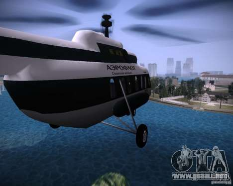 MI-8 para GTA Vice City vista posterior